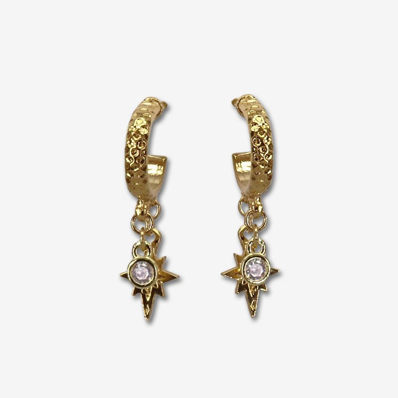 hopps earrings gold plated-Costume jewelry as elegant as poetic with its zircon pendants