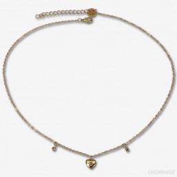 Bijoux de créateur-collier avec cœur plaqué or