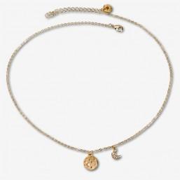 collier fantaisie plaque or  bijoux de createur Cannes