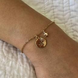 bracelet de créateur fabriqués à la main à Cannes dorés à l'or fin 24 carats - disponible à vente en gros aux professionnels