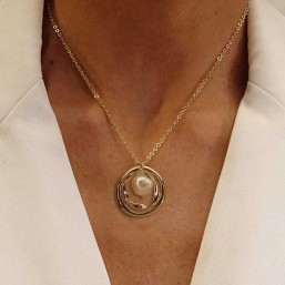 Necklace size 40cm + extention chain