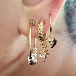 Hoop earring ring -this fashion jewellery is plated with fin gold 24 cts -made in France   Nickelfree
