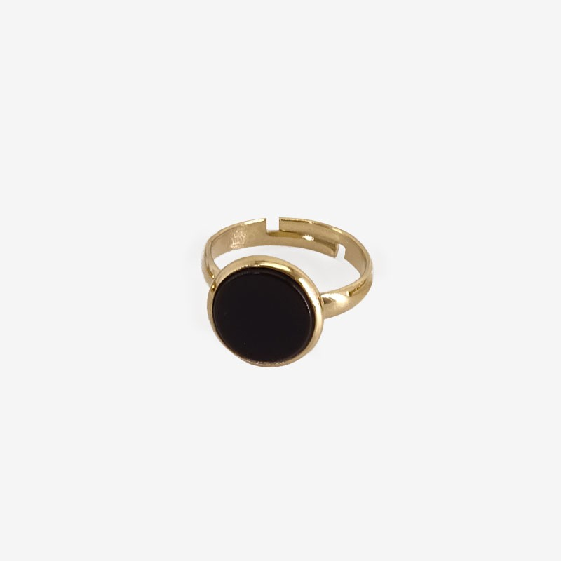 ajustable ring with Gems Stones, Made In France. CHORANGE French Designer Fashion Jewelry. Nickel Free.