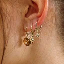 créole plaque or fantaisie avec lune pour  bijou femme très léger