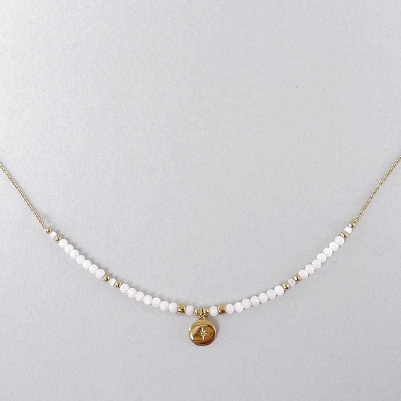 colliers avec pierres semi-précieuses. Chorange créateur de bijoux fantaisie
