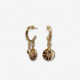 fancy hoops earrings made in France by chorange