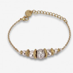 costume jewellery and bracelet gold or silver plated in France
