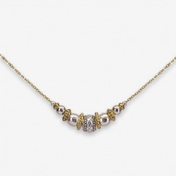 fancy necklace made in France plated gold or silver