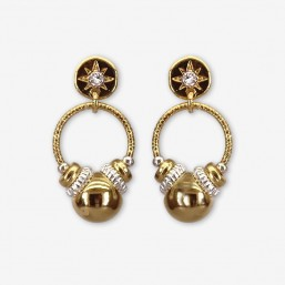 earring plated gold or silver made in Cannes / France
