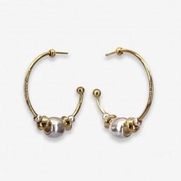 Boucle d'oreille créole plaquée  or par Chorange bijoux Cannes
