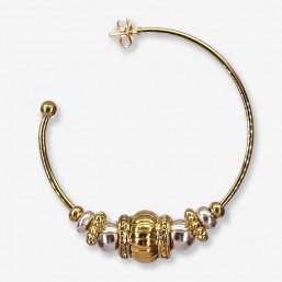 boucle d'oreille créole tendance en métal plaqué or