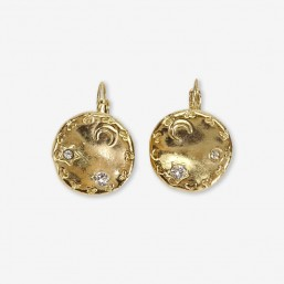 earring plated gold or silver made in France -Cannes- by Chorange , french designer of costume jewellery