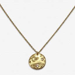 necklace gold plated in France by Chorange ,french designer of costume jewellery