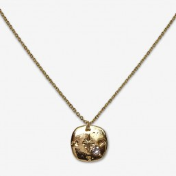 necklace gold or silver plated in France by Chorange ,french designer of costume jewellery