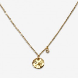fancy necklace with chain plated gold or silver in France buy Chorange french designer of costume jewellery