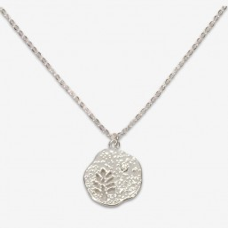 fancy necklace with chain plated silver in France by Chorange french designer of costume jewellery