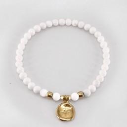 Bracelet élastique. Pampilles en métal émaillé, 1µ d'or fin 24 cts. CHORANGE Créateur Bijoux Fantaisie à Cannes