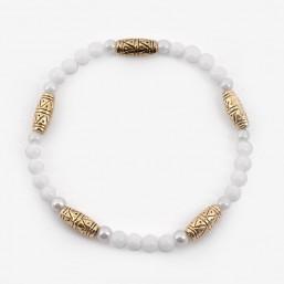Bracelet élastique, doré or 24 cts, Sans Nickel. Fabriquées en France. Chorange Créateur Bijoux Fantaisie.